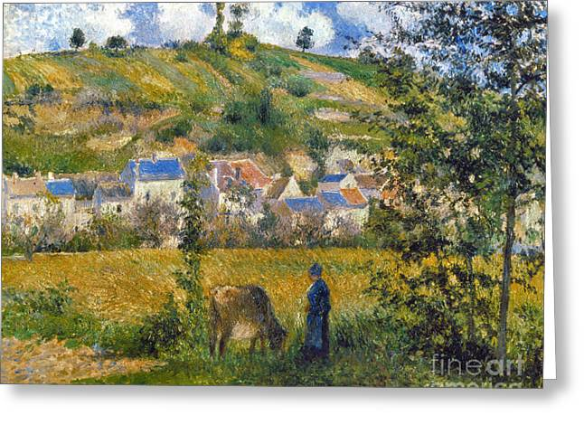 Camille Pissarro Photographs Greeting Cards - Pissarro: Chaponval, 1880 Greeting Card by Granger