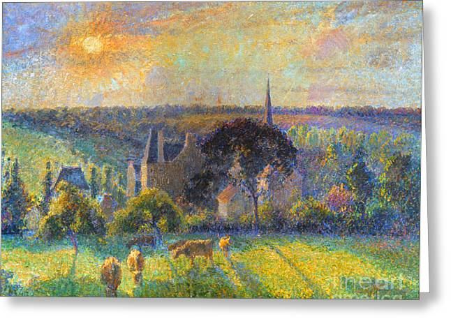 Camille Pissarro Photographs Greeting Cards - Pissarro: Eragny, 1895 Greeting Card by Granger