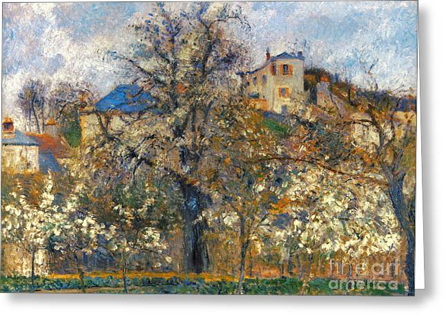 Camille Pissarro Photographs Greeting Cards - Pissarro: Garden, 1877 Greeting Card by Granger