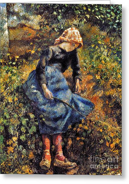 Camille Pissarro Photographs Greeting Cards - Pissarro: Girl, 1881 Greeting Card by Granger