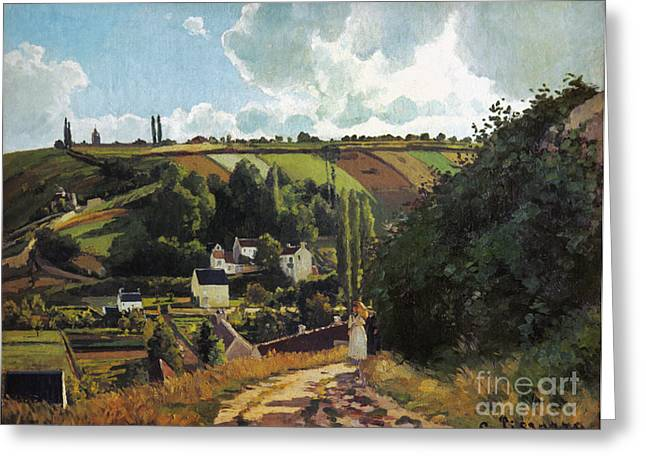 Camille Pissarro Photographs Greeting Cards - Pissarro: Jallais, 1867 Greeting Card by Granger