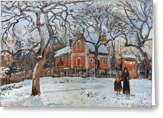 Camille Pissarro Photographs Greeting Cards - PISSARRO: TREES, c1872 Greeting Card by Granger