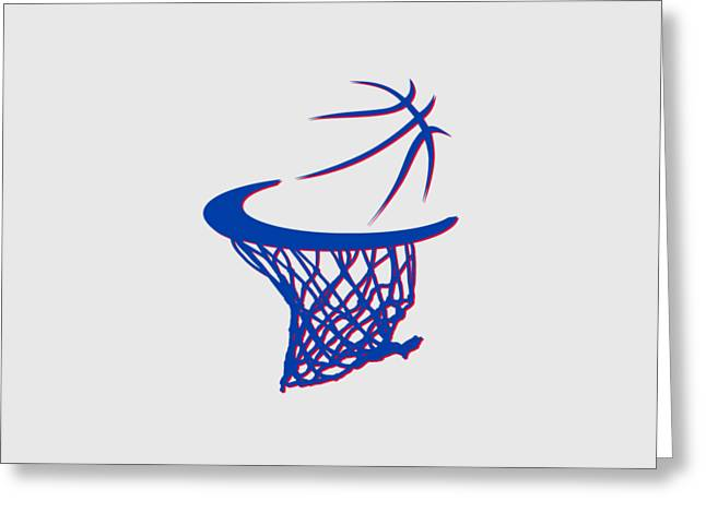 Piston Greeting Cards - Pistons Basketball Hoop Greeting Card by Joe Hamilton