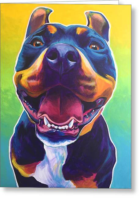 Pit Bull - Maya Greeting Card by Alicia VanNoy Call