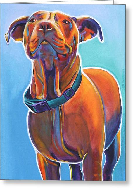 Pit Bull - Triumph Greeting Card by Alicia VanNoy Call
