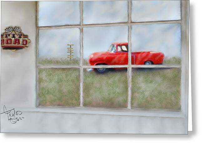 Pit Road--fire And Ice  Greeting Card by Colleen Taylor
