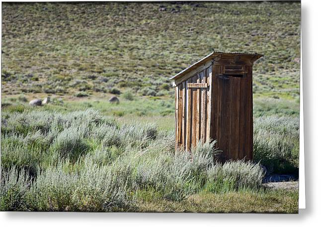 Outhouses Greeting Cards - Pit Stop Greeting Card by Kelley King