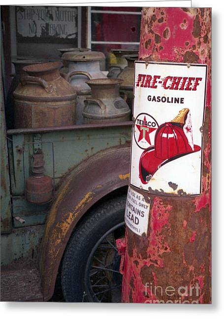 Old Trucks Greeting Cards - Pit Stop Greeting Card by Richard Rizzo