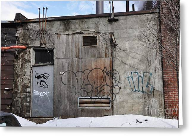Streets Of Montreal Greeting Cards - Pitt Street wall Greeting Card by Reb Frost