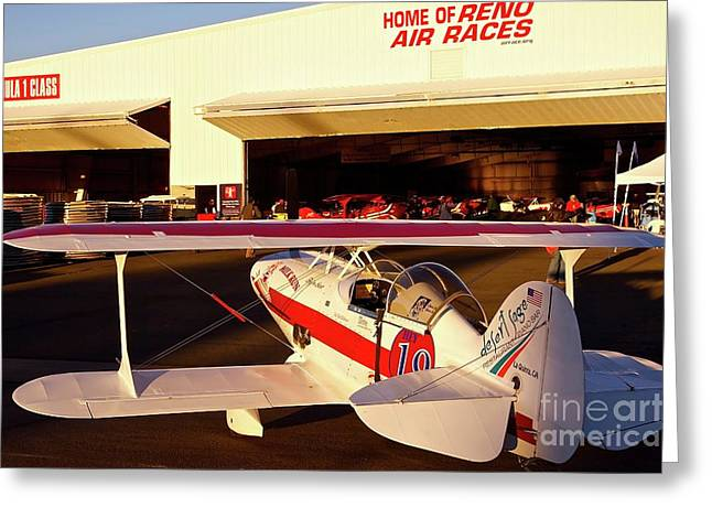 Reno Air Races Greeting Cards - Pitts Racer at 2010 Reno Air Races Greeting Card by Gus McCrea