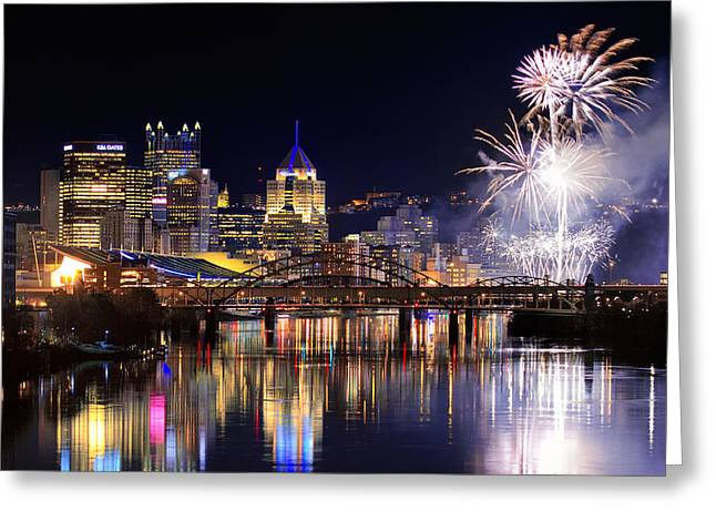 Steelers Greeting Cards - Pittsburgh 1  Greeting Card by Emmanuel Panagiotakis