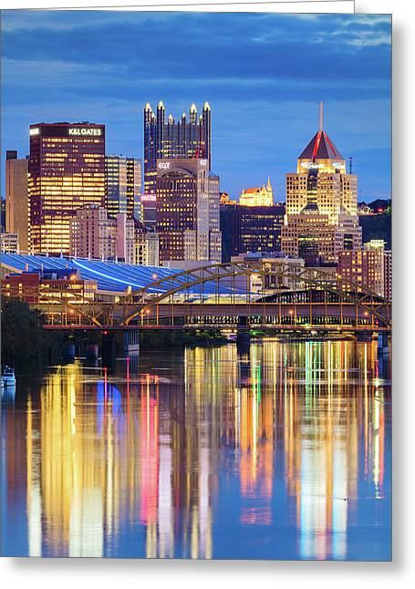 Mellon Greeting Cards - Pittsburgh 2 Greeting Card by Emmanuel Panagiotakis