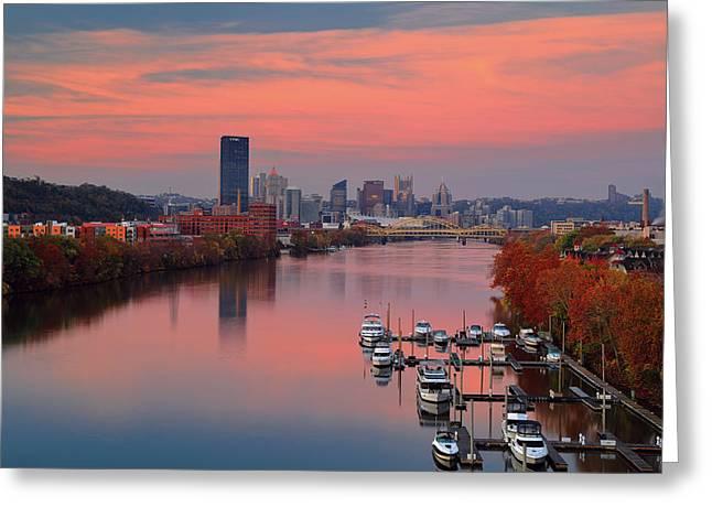 Pittsburgh 31st Street Bridge  Greeting Card by Emmanuel Panagiotakis