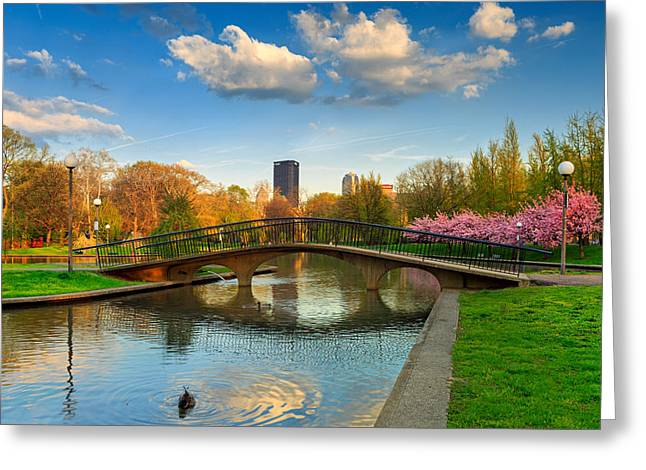 Pnc Park Greeting Cards - Pittsburgh Allegheny Commons Park West Greeting Card by Emmanuel Panagiotakis