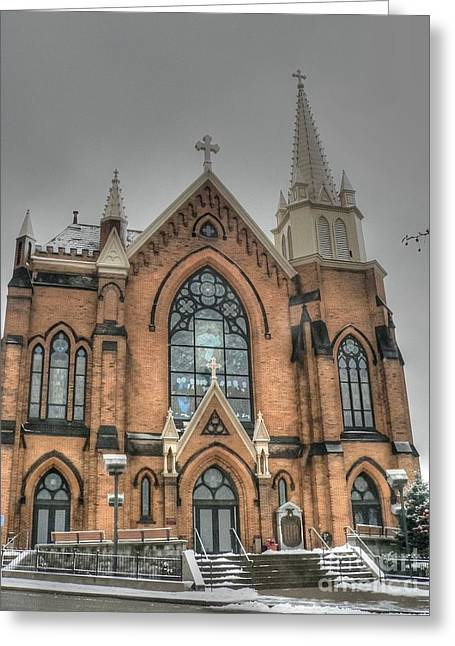 Pittsburgh Cathedral Greeting Card by David Bearden