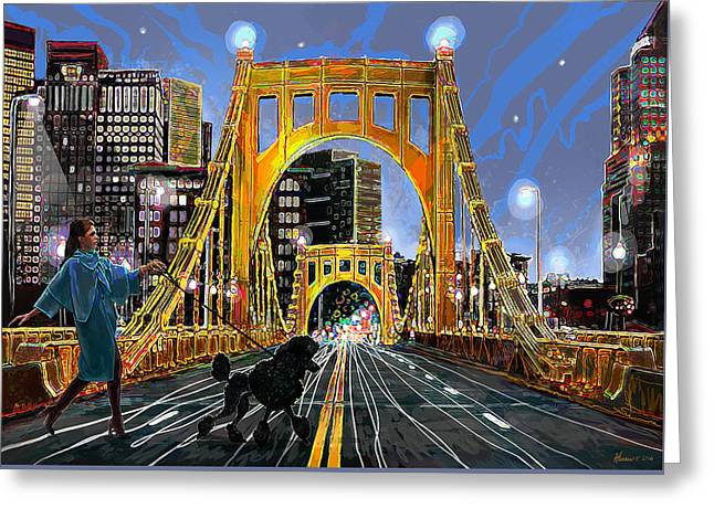 Pittsburgh Chic Greeting Card by Frank Harris