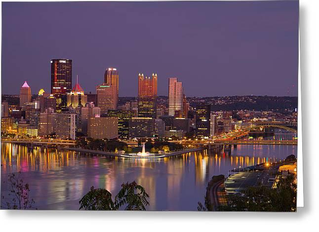 Pittsburgh Greeting Card by David Jugan