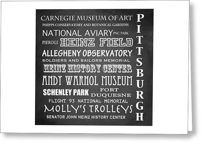 Carnegie Museum Of Art Greeting Cards - Pittsburgh Famous Landmarks Greeting Card by Patricia Lintner