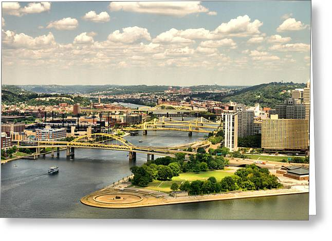 Pittsburgh HDR Greeting Card by Arthur Herold Jr