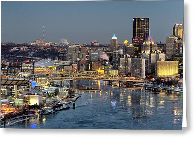 Pirates Greeting Cards - Pittsburgh January 2015 Greeting Card by Matt Hammerstein