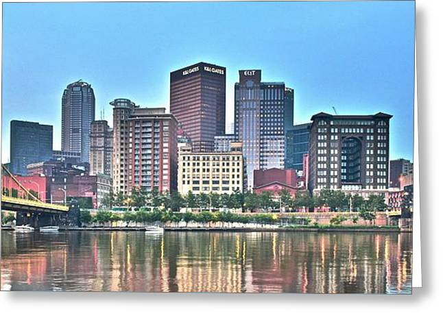 Incline Greeting Cards - Pittsburgh PA Panorama Greeting Card by Frozen in Time Fine Art Photography