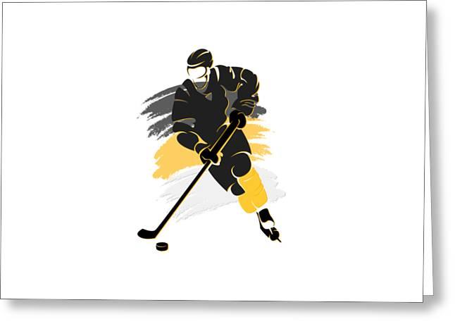 Ice-skating Greeting Cards - Pittsburgh Penguins Player Shirt Greeting Card by Joe Hamilton