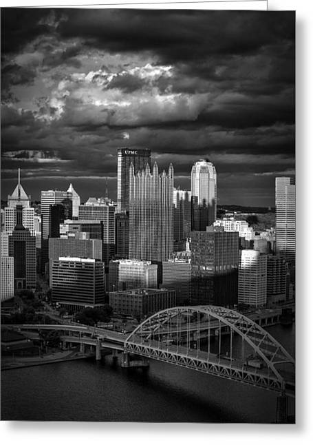 Pittsburgh Pennsylvania Skyline Greeting Card by David Haskett