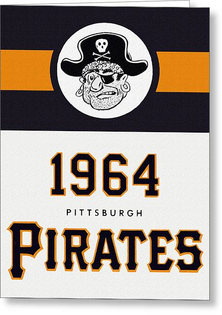 Hitter Paintings Greeting Cards - Pittsburgh Pirates 1964 Media Guide Greeting Card by Big 88 Artworks