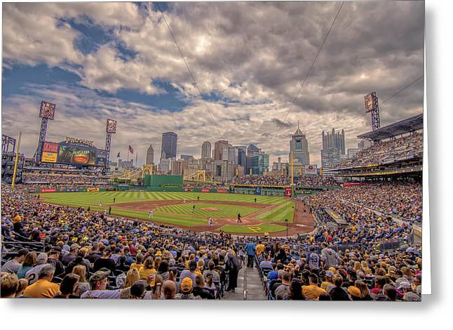 Pittsburgh Pirates 1a Pnc Park Greeting Card by David Haskett