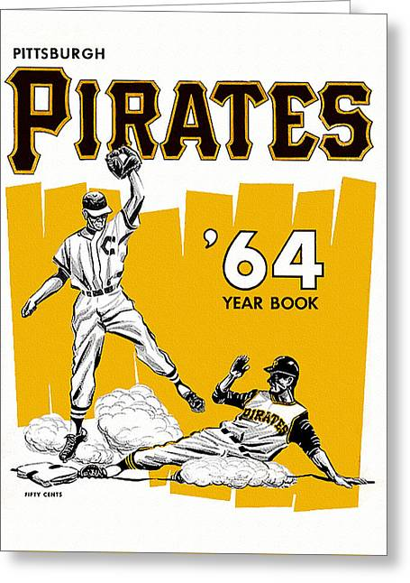 Pittsburgh Pirates 64 Yearbook Greeting Card by Big 88 Artworks