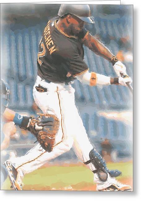 Pittsburgh Pirates Andrew Mccutchen 2 Greeting Card by Joe Hamilton