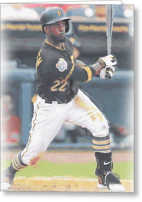 Pittsburgh Pirates Andrew Mccutchen 3 Greeting Card by Joe Hamilton