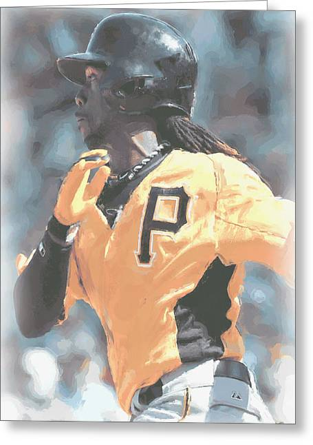 Pittsburgh Pirates Andrew Mccutchen Greeting Card by Joe Hamilton