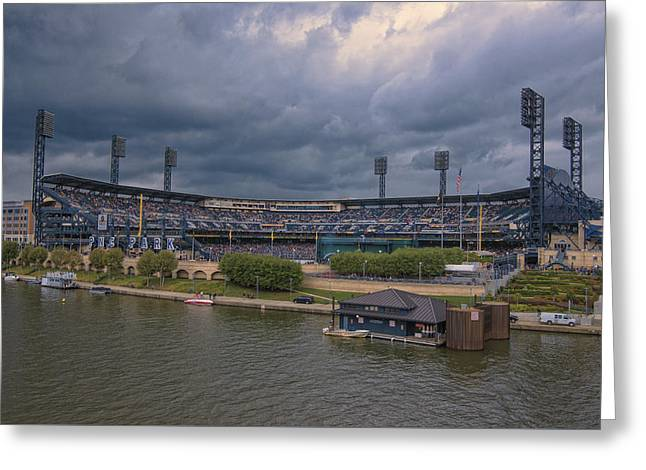 Baseball Photographs Greeting Cards - Pittsburgh Pirates PNC Park B Greeting Card by David Haskett