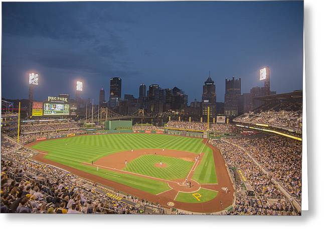 Pittsburgh Pirates Pnc Park X2 Greeting Card by David Haskett