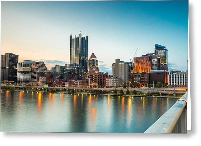 Pittsburgh Skyline 1 Greeting Card by David Jugan