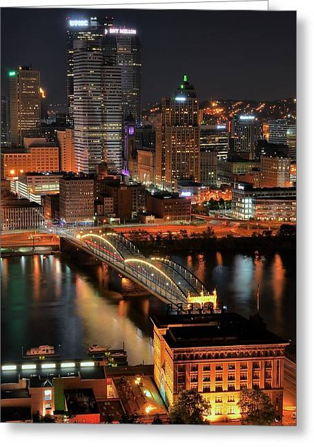 Pittsburgh Standing Tall Greeting Card by Frozen in Time Fine Art Photography