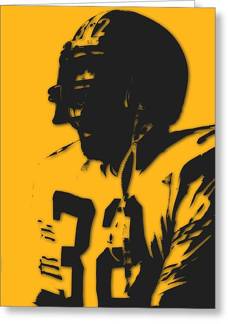 Franco Harris Greeting Cards - Pittsburgh Steelers Franco Harris Greeting Card by Joe Hamilton