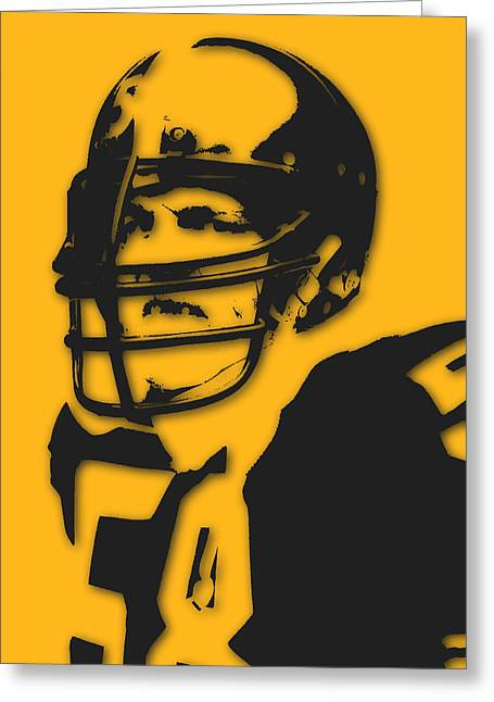 Pittsburgh Steelers Jack Lambert Greeting Card by Joe Hamilton