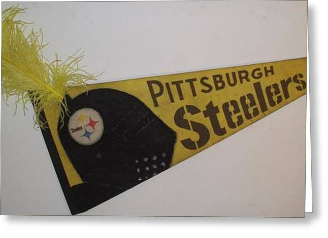 1933 Mixed Media Greeting Cards - Pittsburgh Steelers Greeting Card by William Douglas