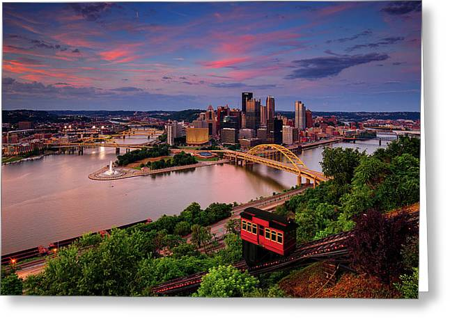 Pittsburgh Sunset #3 Greeting Card by Emmanuel Panagiotakis