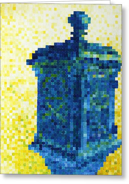 Shorewood Greeting Cards - Pixel Police Call Box Greeting Card by Lindsey Mathewson