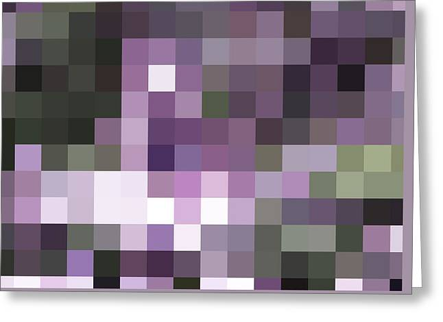 Pixelated Greeting Card by Rona Black
