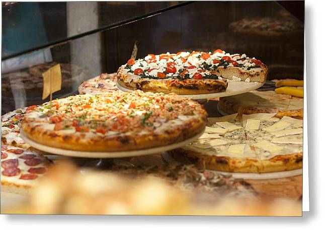 Italian Kitchen Greeting Cards - Pizza Greeting Card by Andre Goncalves