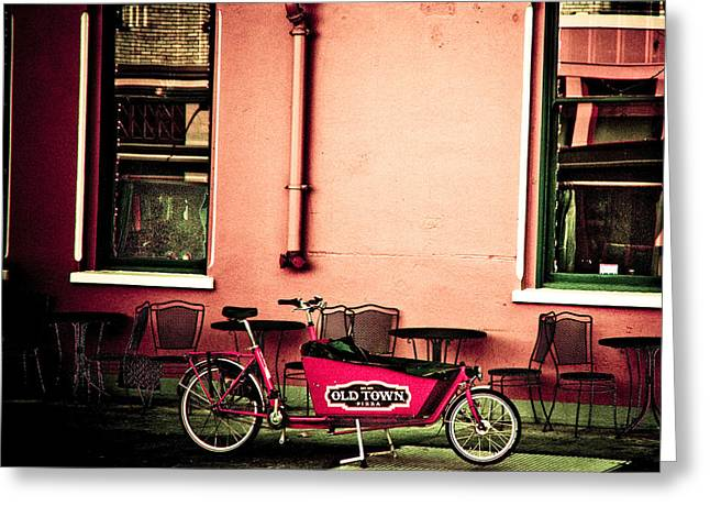 2009 Digital Art Greeting Cards - Pizza Delivery Bike Greeting Card by Craig Perry-Ollila