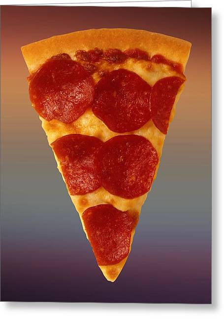 Italian Market Greeting Cards - Pizza Slice  Greeting Card by Movie Poster Prints