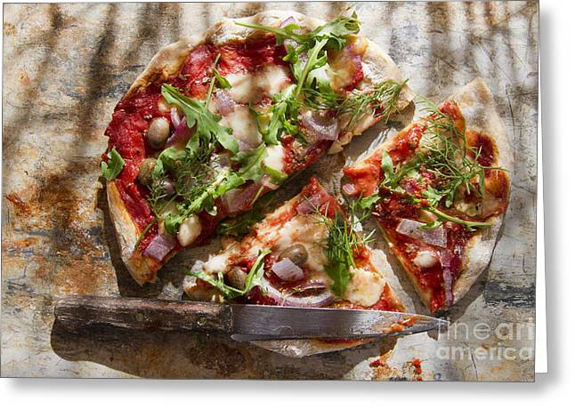 Pizza With Whole Wheat Flour  Greeting Card by Marco Guidi