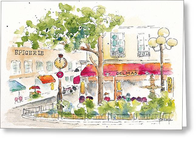 Rose Red City Greeting Cards - Place De La Contrescarpe Paris Greeting Card by Pat Katz