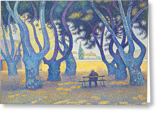 Place Des Lices St Tropez Greeting Card by Paul Signac