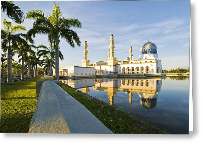 Malaysia Greeting Cards - Place of Worship Greeting Card by Ng Hock How